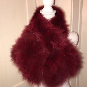 Adrienne Landau Genuine Red Fox Fur Scarf